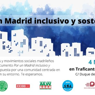 La sociedad civil, Por un Madrid inclusivo y sostenible
